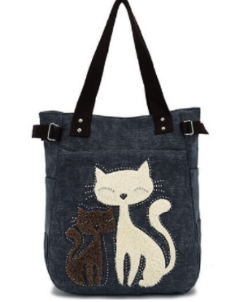 Women's Canvas Shoulder Bag--Adorable Meets Fashionable