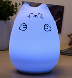 Adorable Silicone LED Night Light with Touch Sensor