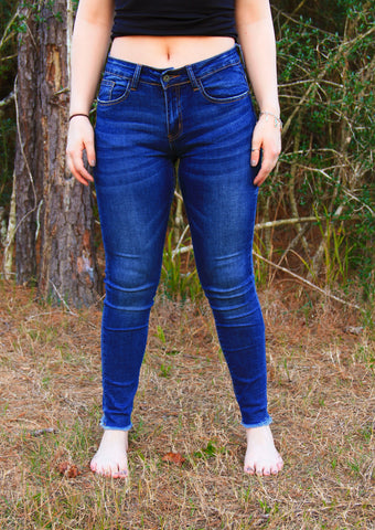 Distressed Mid-rise Skinny Jeans - Rustic Wishes Boutique