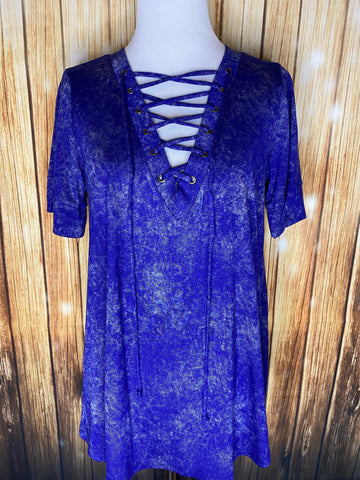 Mineral Wash V-Neck - Rustic Wishes Boutique