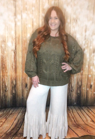 Linen Ruffle Pants - Rustic Wishes Boutique