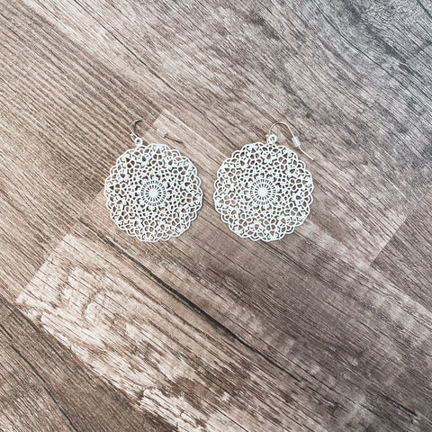 Round Pattern Earrings