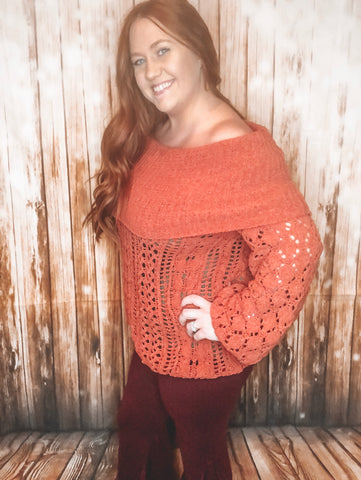 Chenille Knit Sweater - Rustic Wishes Boutique