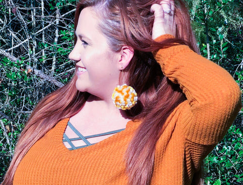 Pom Pom Earrings - Rustic Wishes Boutique