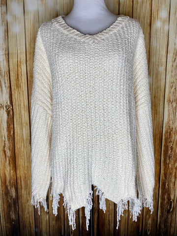 Curvy Distressed Sweater - Rustic Wishes Boutique