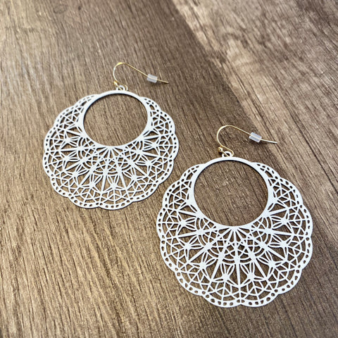 Open Cut Pattern Earrings