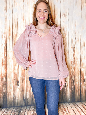 Blushing Blair Top - Rustic Wishes Boutique