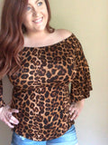 Lucky Leopard Top - Rustic Wishes Boutique