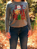 Joy Love Peace Long Sleeve - Rustic Wishes Boutique