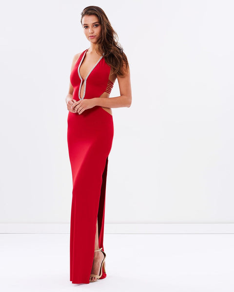 The Night Is Young Evening Dress - Red