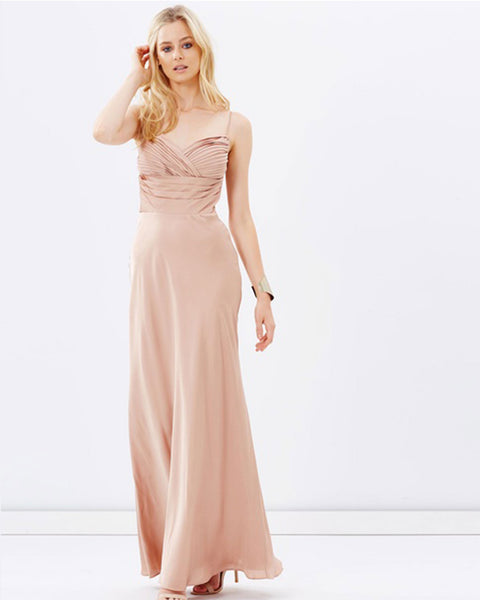 Satin Evening Dress - Champagne