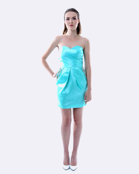 Jewel Pocket Dress - Teal
