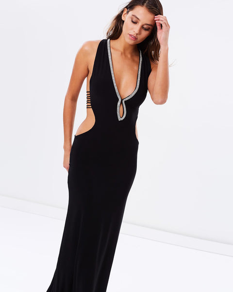 The Night Is Young Evening Dress - Black