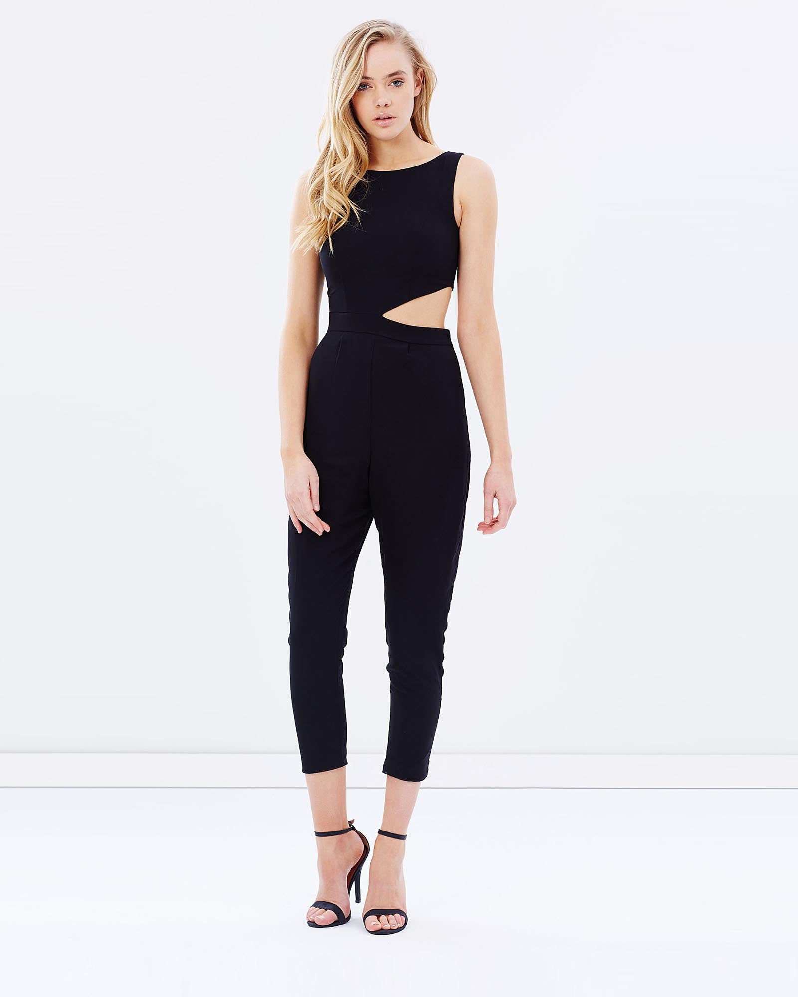 Jumpsuit with Side Cut Outs - Black