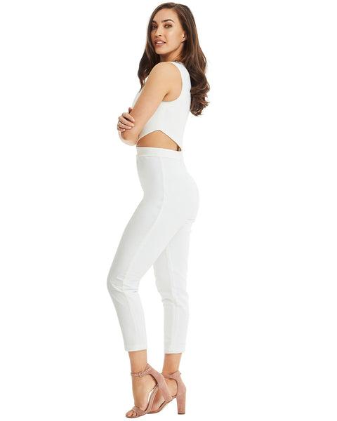 41f8025b7fd2 Jumpsuit with Side Cut Outs - White. SKIVA