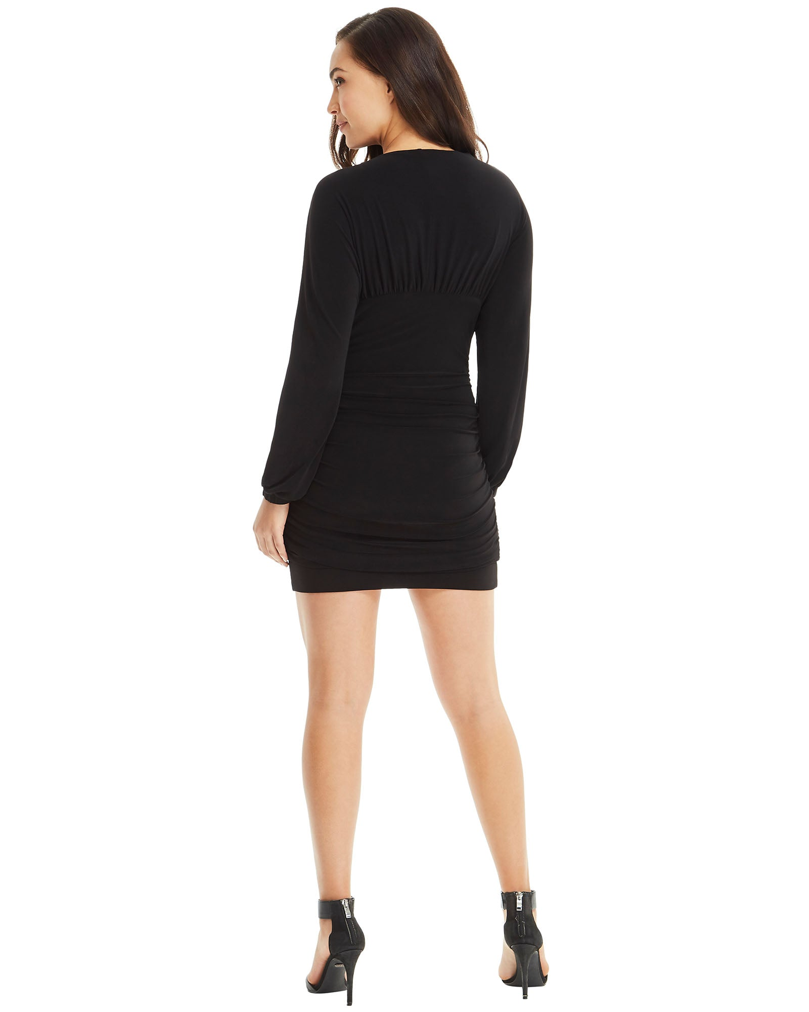 Long Sleeve Mini Dress - Black