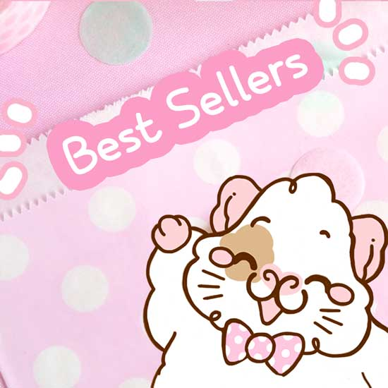 Image of Cartoon Guinea Pig with Best Sellers Text