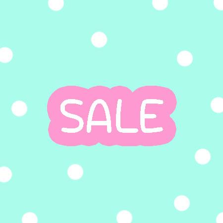 Polka Dot Background with Sale Text in Centre