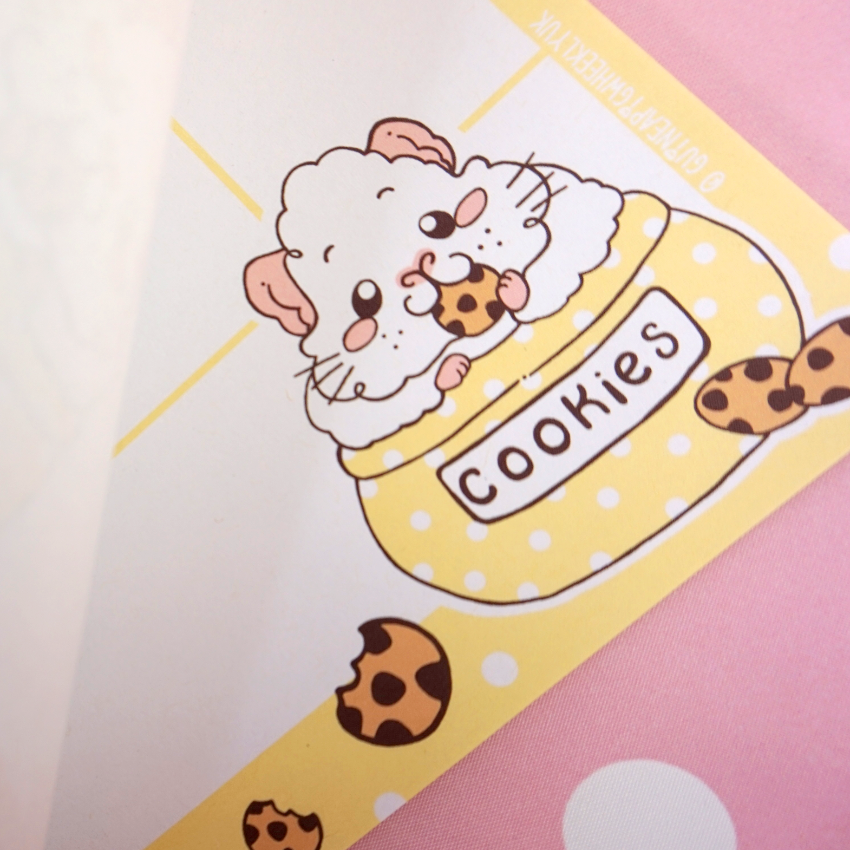 """Plan the wheek and eat all the cookies"" A4 Cookie Guinea Pig Desk Planner Note Pad Journal - Guineapig Wheekly UK"