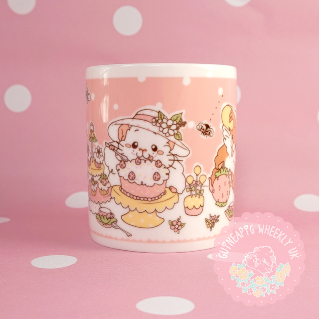 Afternoon Tea Time Guineapig Gift Mug *Instock* - Guineapig Wheekly UK