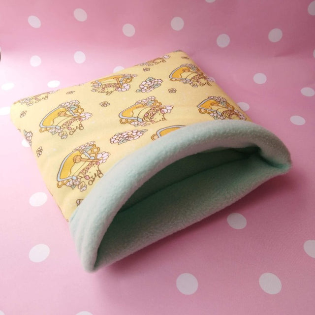 "Guineapig Fleece Bed ""Honey Bee "" Snuggle Sack Preorder"