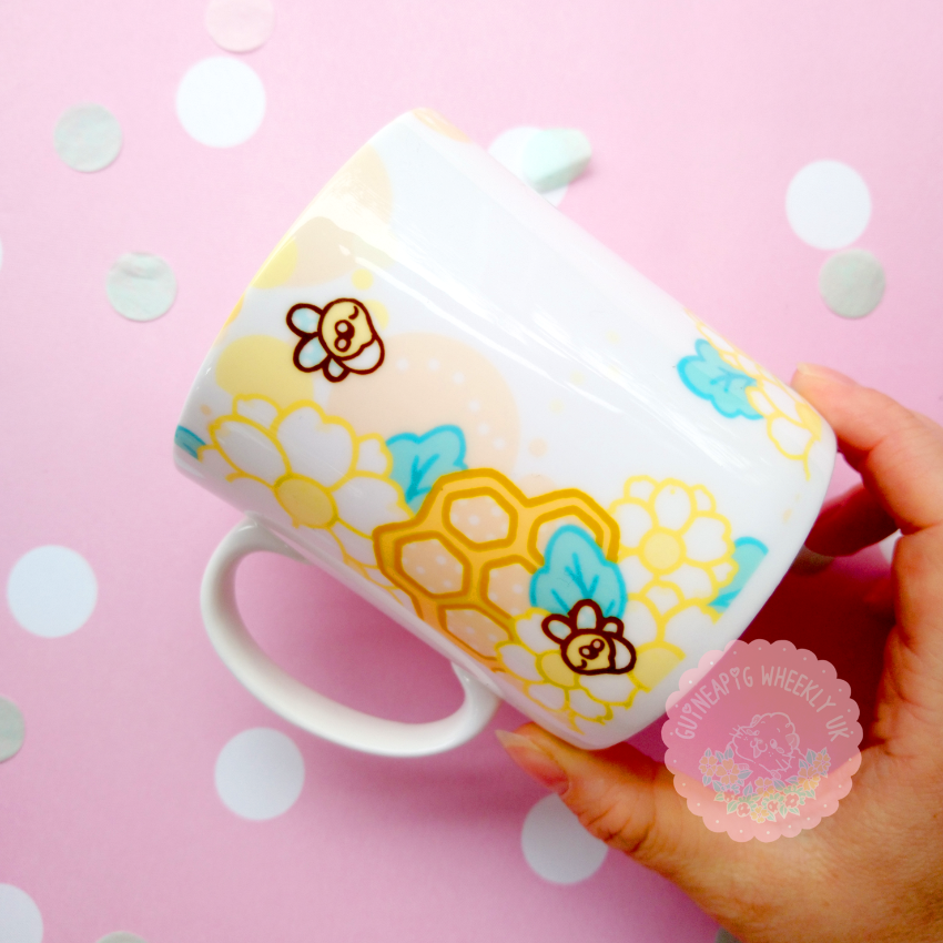 "Guinea pig Mug ""Honey Bee""  *Instock*"