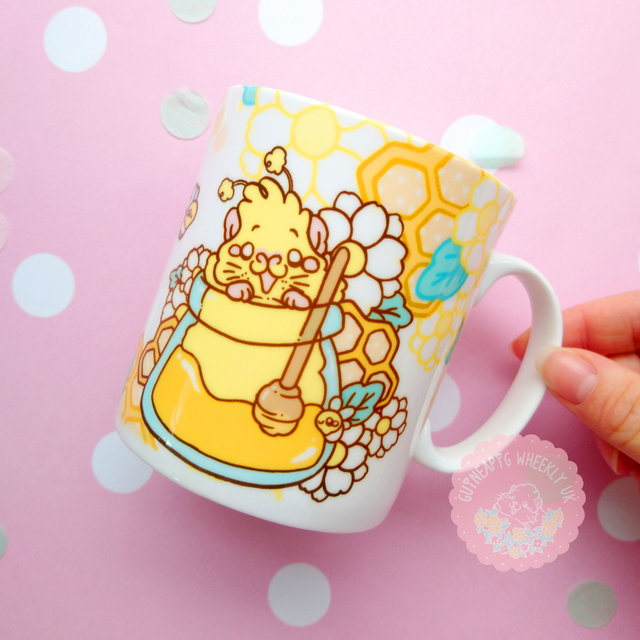 Guinea pig Mug Honey Bee