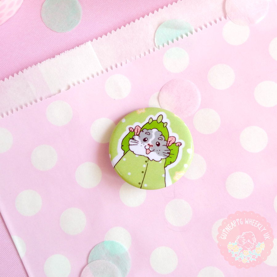 Guinea Pig Pin Button Badges