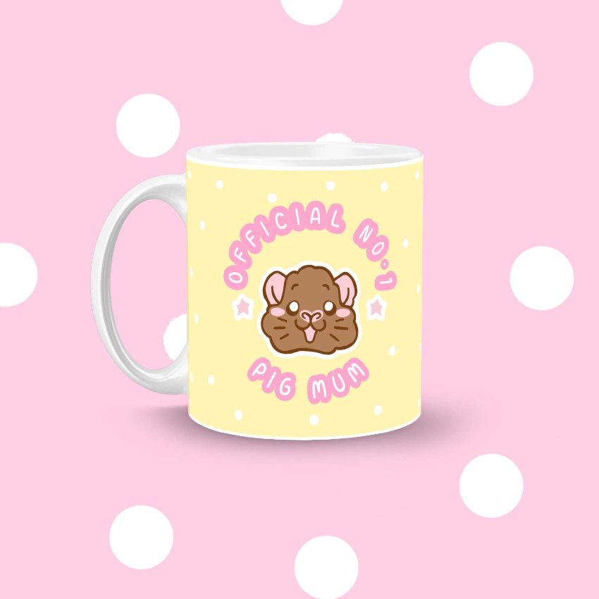 Officla No.1 Pigmum Mug - Guinea pig Mother's Day Mug