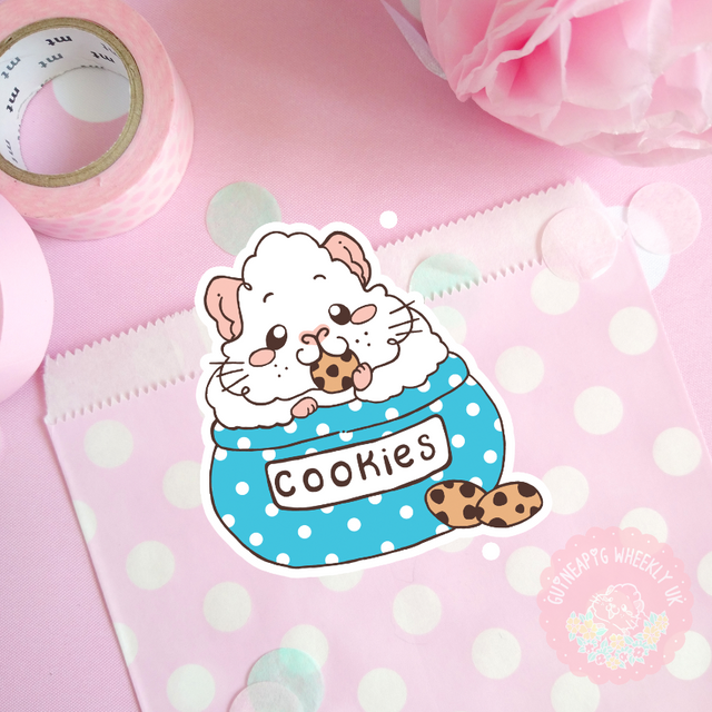 Cookie Guinea Pig Vinyl Sticker