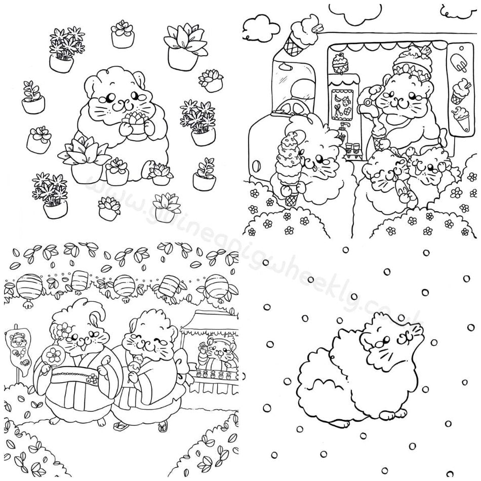 The Magical Guinea Pig & Friends Colouring Book : Volume two - Guineapig Wheekly UK