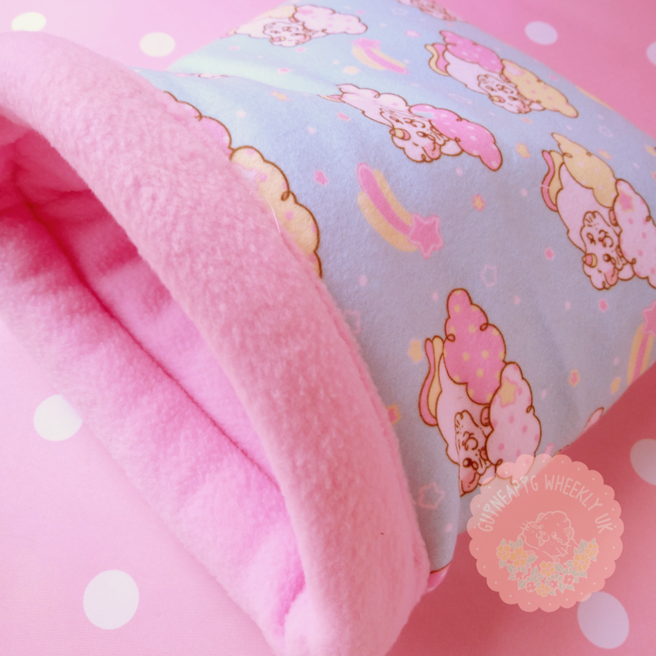 "*NEW* Guineapig Fleece Bed ""Unipiggie"" Snuggle Sack - Guineapig Wheekly UK"