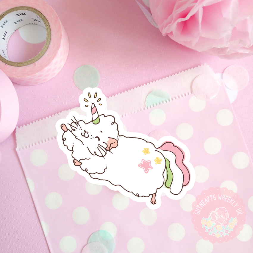 Unicorn Guinea Pig Sticker