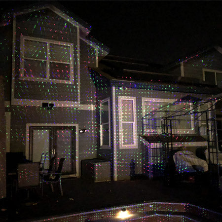 X2 Red Green Blue Laser Christmas Light With Motion