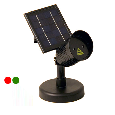 Solar Powered Red and Green Laser Light