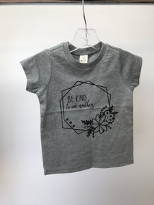 Be Kind Heathered Grey Tee