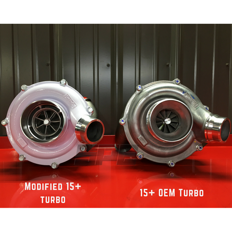 Comparing 15+ turbocharger to modified charger