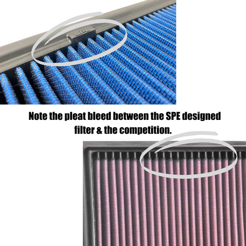 Air Filter Pleat Bleed comparison