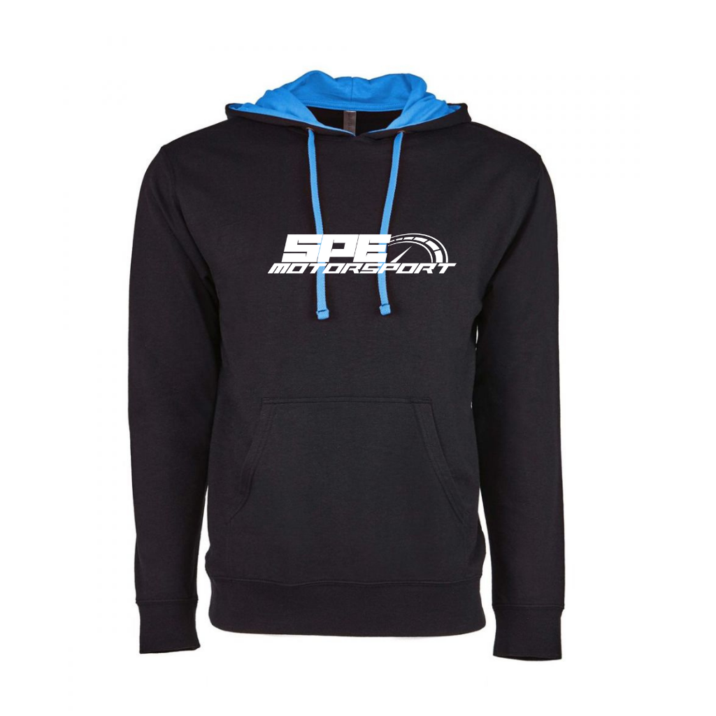 SPE Motorsport Lightweight Black & Blue Pullover Hoodie