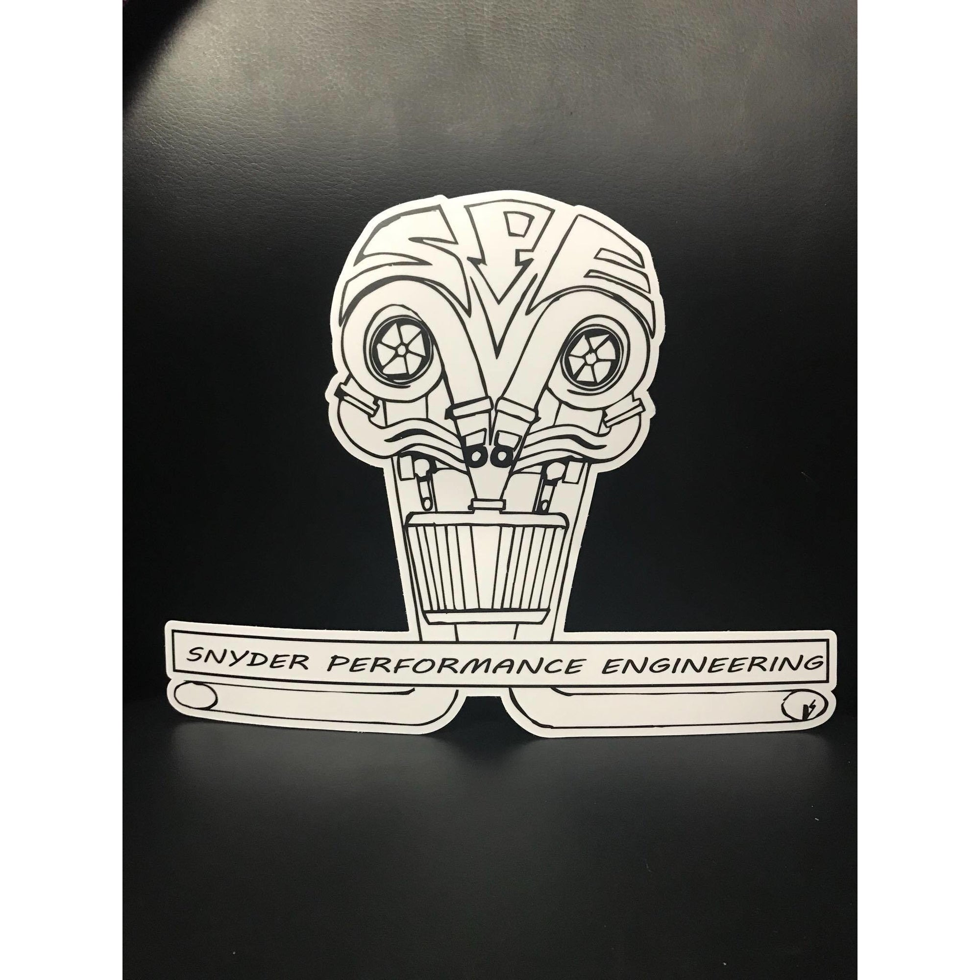 SPE Snyder Performance Engineering Skull Sticker