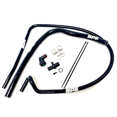 SPE Motorsport Coolant Hose Reroute Kit- all laid out