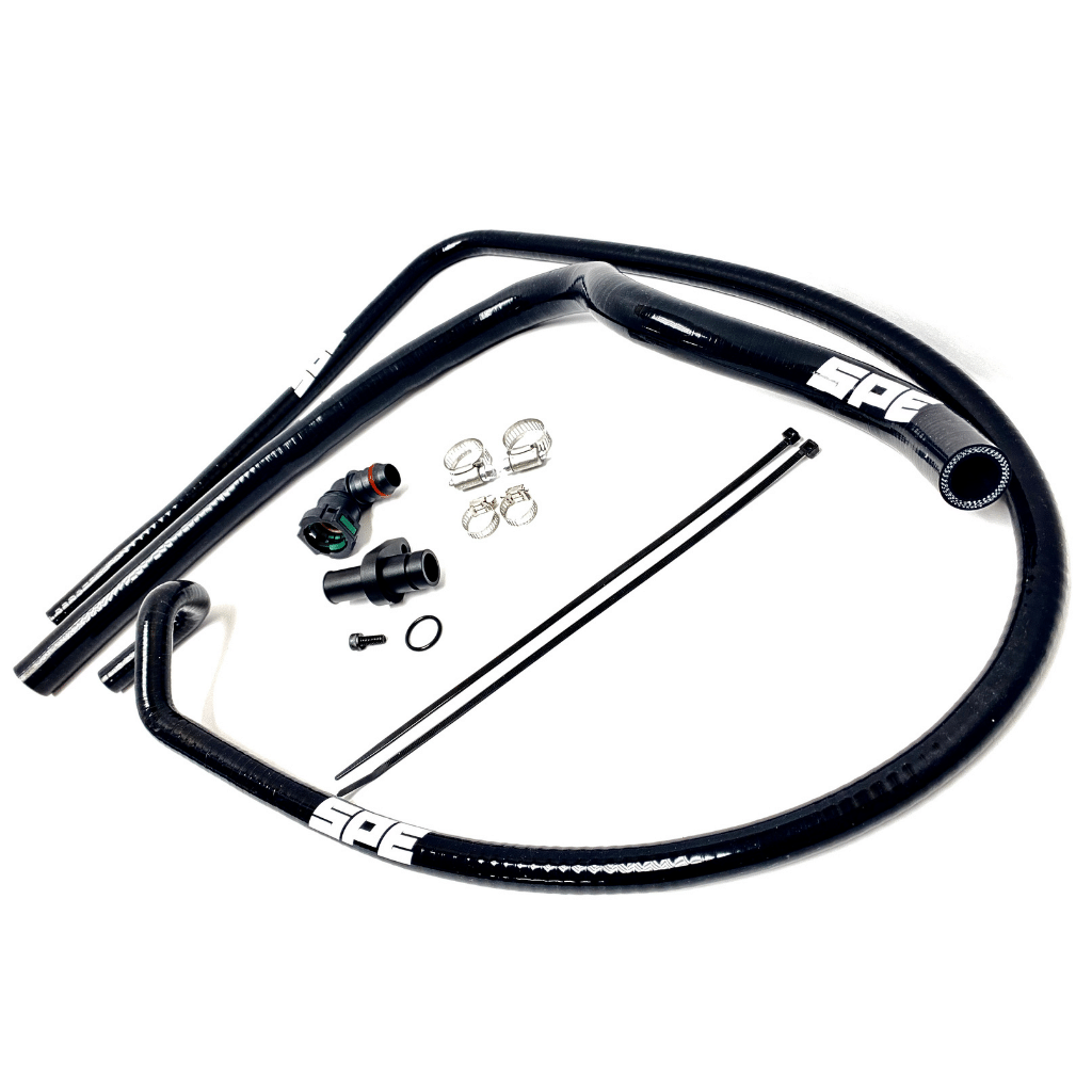 SPE Motorsport Coolant Hose Reroute Kit- all parts