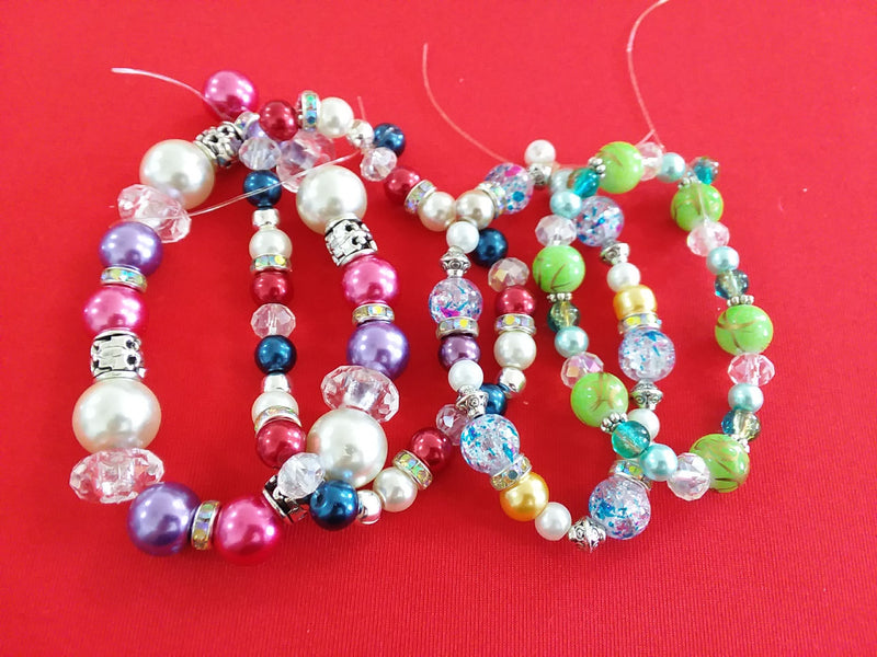 "New Mixed Bead 7"" - 8"" Strands $4 each"