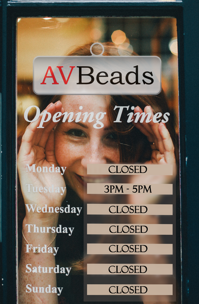 AVBeads Workshop Waterford Hours - Week of March 10-16, 2019