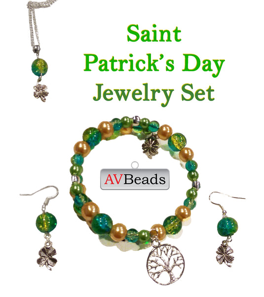 DIY Project - Saint Patrick's Day Jewelry Set