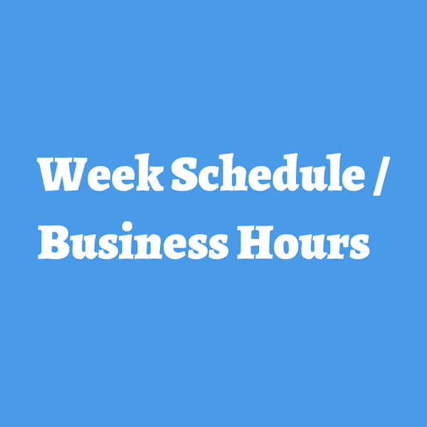 Planned Hours for Week 9 of 2019 2/24 - 3/2