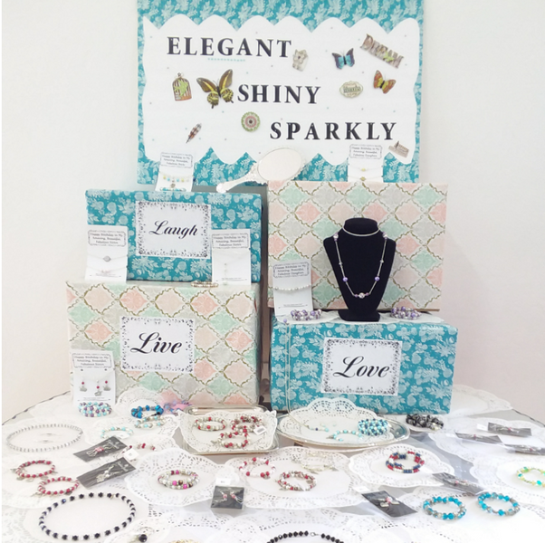 Craft Fair Jewelry Display Table Idea