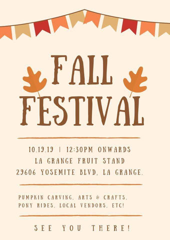 Fall Festival La Grange California