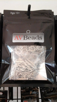 AVBeads Components Metal Toggle & Clasp Rings 13mm 100 sets 200pcs