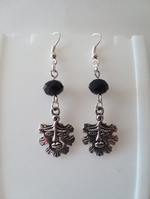 AVBeads Jewelry Charm Earrings Dangle Silver Hook Beaded Black Greenman